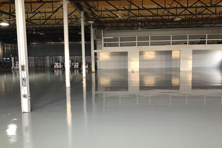 Epoxy floor installed after slurry system installed